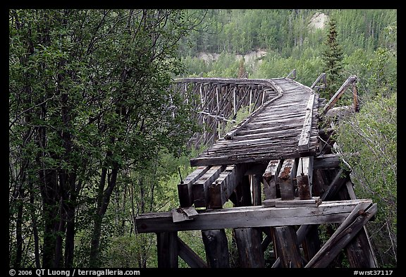 Gilahina trestle, constructed in eight winter days. Wrangell-St Elias National Park (color)
