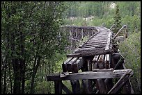 Gilahina trestle, constructed in eight winter days. Wrangell-St Elias National Park, Alaska, USA. (color)
