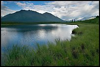 Clearing storm on lake. Wrangell-St Elias National Park, Alaska, USA.