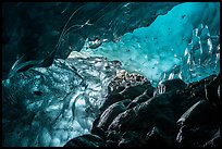 Ice cave, Root Glacier. Wrangell-St Elias National Park ( color)