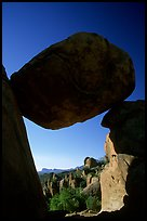 Balanced rock in Grapevine mountains. Big Bend National Park, Texas, USA. (color)