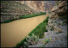 Rio Grande in Santa Elena Canyon. Big Bend National Park, Texas, USA. (color)