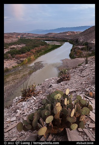 Rio Grande Wild and Scenic River, dusk. Big Bend National Park (color)