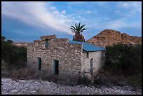 Historic bath house at dusk. Big Bend National Park, Texas, USA. (color)