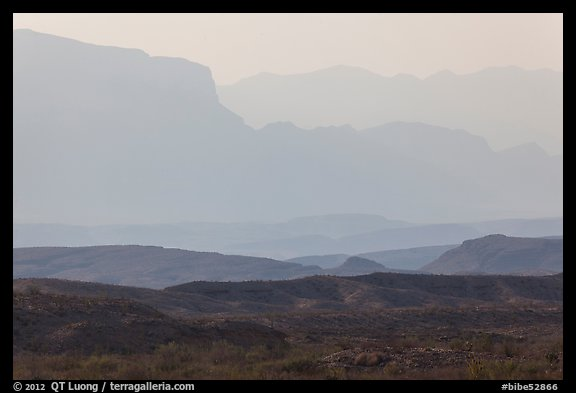 Ridges of Sierra Del Carmen mountains, morning. Big Bend National Park (color)