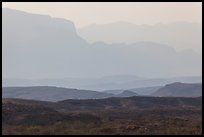 Ridges of Sierra Del Carmen mountains, morning. Big Bend National Park, Texas, USA. (color)