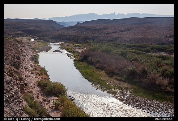 Rio Grande River and hot springs. Big Bend National Park (color)