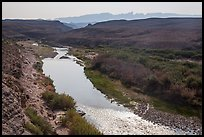 Rio Grande River and hot springs. Big Bend National Park, Texas, USA. (color)