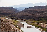 Rio Grande River canyon and Sierra del Carmen. Big Bend National Park ( color)
