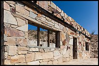 Ruins of historic bathhouse. Big Bend National Park, Texas, USA. (color)