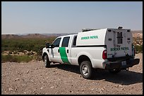 Border Patrol truck. Big Bend National Park, Texas, USA. (color)