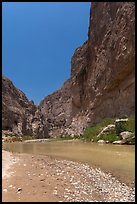 Rio Grande River, Boquillas Canyon. Big Bend National Park, Texas, USA. (color)