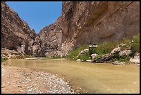 Boquillas Canyon of the Rio Grande River. Big Bend National Park, Texas, USA. (color)
