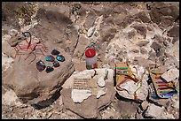 Honor system stand with Boquillas wares. Big Bend National Park, Texas, USA. (color)