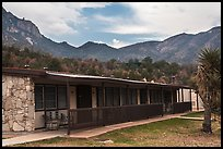 Guestrooms, Chisos Mountain Lodge. Big Bend National Park, Texas, USA. (color)