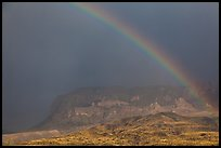 Rainbow over Chisos Mountains. Big Bend National Park, Texas, USA. (color)