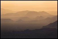 Mountain ridges at sunset. Big Bend National Park, Texas, USA. (color)