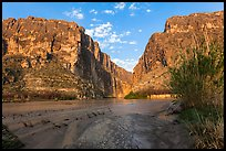 Terlingua Creek mud flats and Santa Elena Canyon. Big Bend National Park ( color)