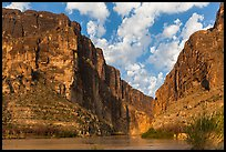 Santa Elena Canyon cut into Sierra Ponce Mountains. Big Bend National Park, Texas, USA. (color)