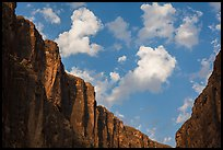 Santa Elena Canyon limestone walls and clouds. Big Bend National Park ( color)