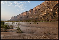 Mesa de Anguilla and Rio Grande River. Big Bend National Park ( color)