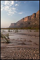 Mud flats, Mesa de Anguilla and Rio Grande River. Big Bend National Park ( color)