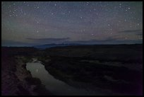 Rio Grande River at night. Big Bend National Park ( color)