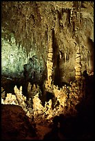 Stalacmites in Big Room. Carlsbad Caverns National Park ( color)