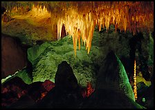 Stalactites in Big Room. Carlsbad Caverns National Park ( color)
