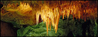 Stalactite Chandelier. Carlsbad Caverns National Park (Panoramic color)