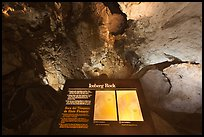 Interpretive sign, Iceberg Rock. Carlsbad Caverns National Park, New Mexico, USA.