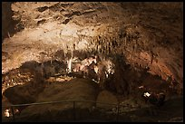 Tourists looking at Green Lake room from above. Carlsbad Caverns National Park ( color)