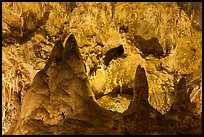 Big limestone pillars. Carlsbad Caverns National Park ( color)