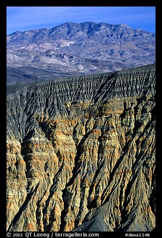 Ubehebe Crater walls and mountains. Death Valley National Park, California, USA.