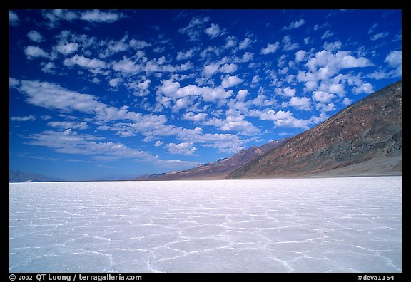 Salt flats at Badwater, mid-day. Death Valley National Park (color)
