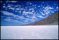 Salt flats at Badwater, mid-day. Death Valley National Park ( color)