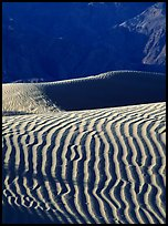 Ripples on Mesquite Sand Dunes, morning. Death Valley National Park, California, USA.