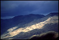 Storm light on foothills. Death Valley National Park, California, USA.