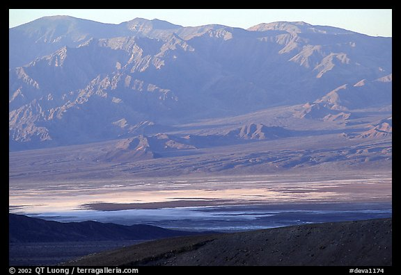 Valley and mountains. Death Valley National Park, California, USA.