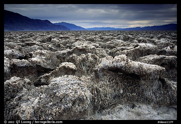 Salt formations, Devil's golf course. Death Valley National Park (color)