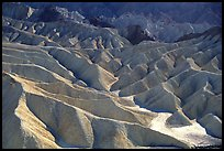 Eroded badlands near Zabriskie Point. Death Valley National Park, California, USA.
