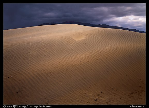 Dunes under rare stormy sky. Death Valley National Park (color)