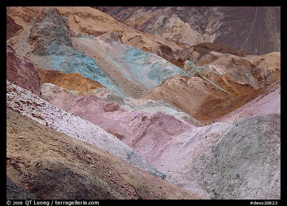 Colorful mineral deposits at Artist's Palette. Death Valley National Park (color)