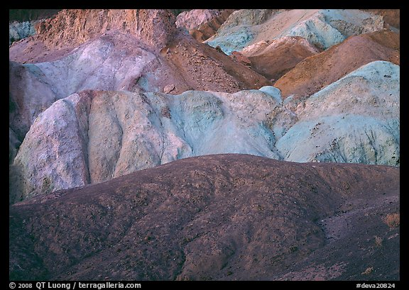 Multicolored mineral deposits, Artist Palette. Death Valley National Park (color)