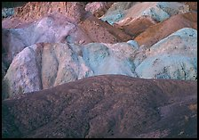 Multicolored mineral deposits, Artist Palette. Death Valley National Park, California, USA. (color)