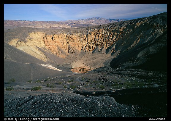 Ubehebe Crater. Death Valley National Park (color)