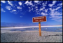 Badwater, lowest point in the US. Death Valley National Park, California, USA. (color)