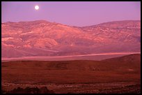 Moonrise over the Panamint range. Death Valley National Park ( color)