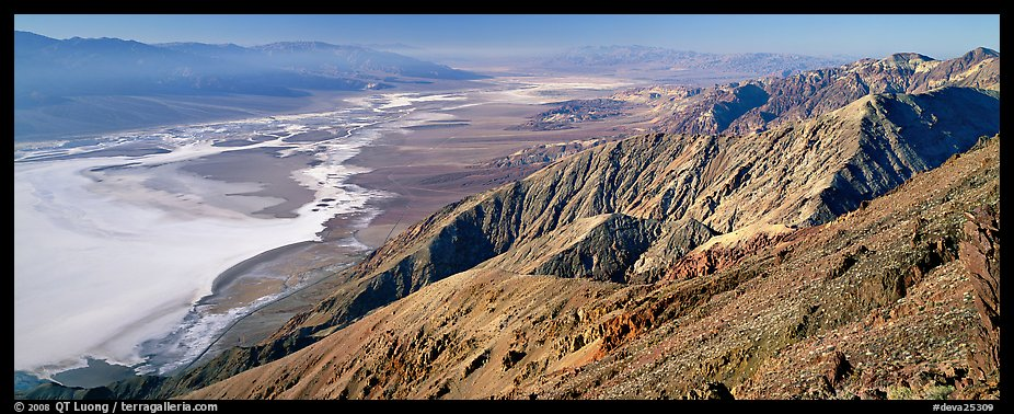 Saltpan and Death Valley from Dante's View. Death Valley National Park (color)