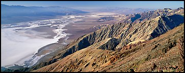 Saltpan and Death Valley from Dante's View. Death Valley National Park (Panoramic color)